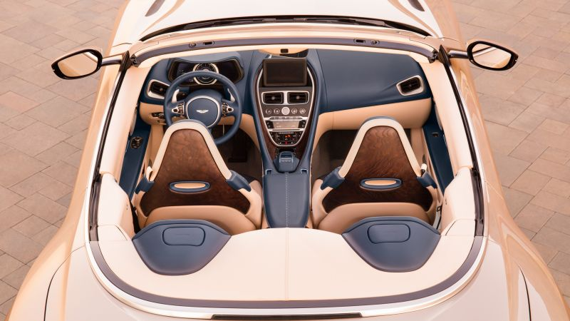 Aston Martin DB11 Volante, interior, 2018 Cars, 5k (horizontal)