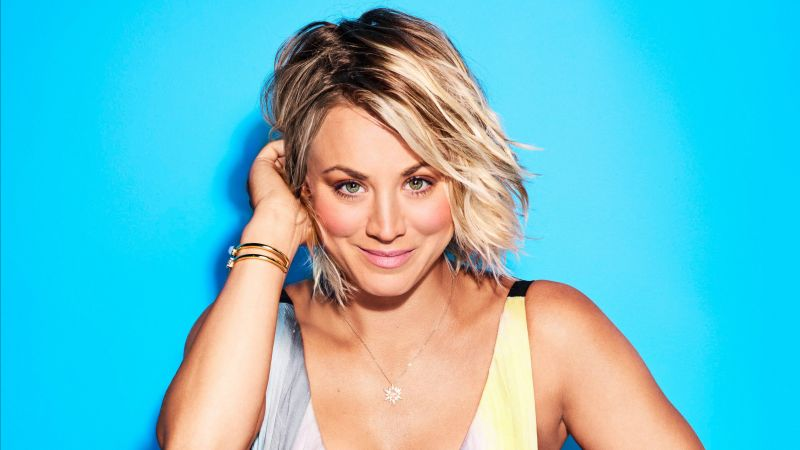 Kaley Cuoco, portrait, 4k (horizontal)