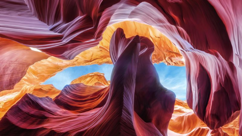 Antelope Canyon, Arizona, USA, 4k (horizontal)