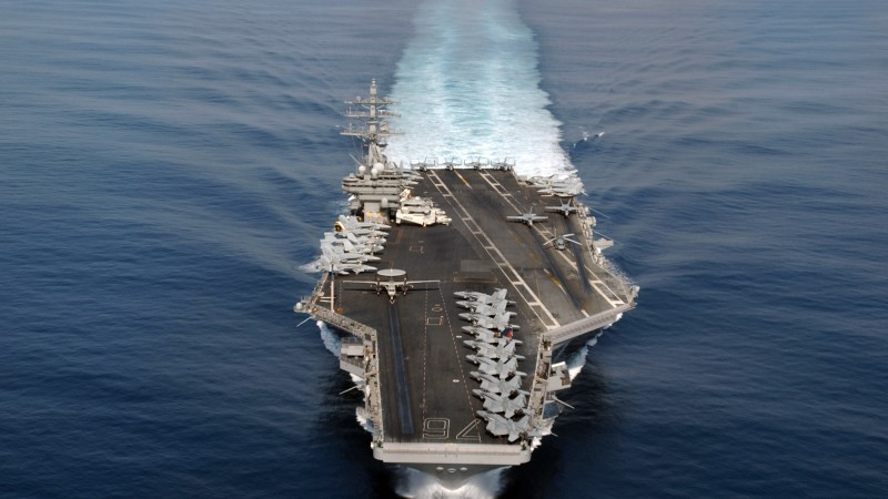 USS Ronald Reagan, aircraft carrier, CVN-76, Nimitz, U.S. Navy (horizontal)