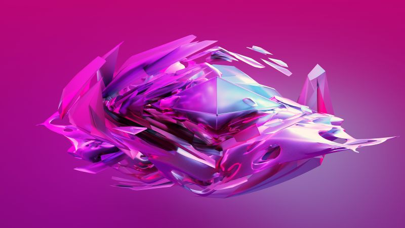candy dreams, 3D, sphere, violet, HD (horizontal)