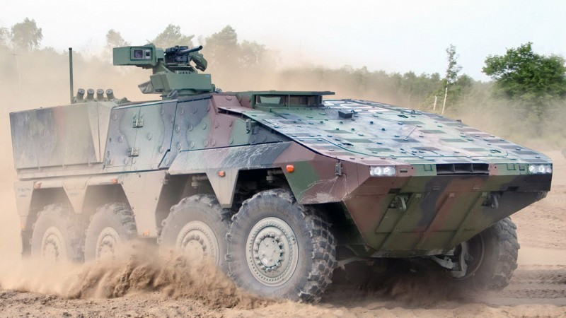 AFV, armoured fighting vehicle, GTK, Boxer, HK GMG, IFV, Bundeswehr, dust (horizontal)