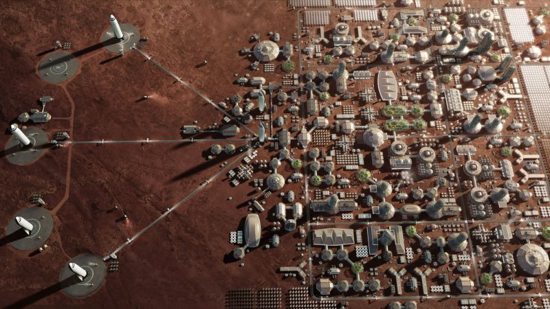 Mars Base, Mars Colony, Space X, HD (horizontal)