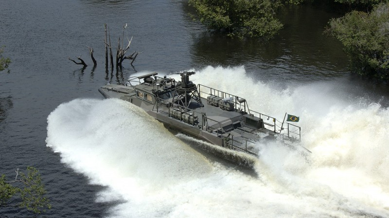 combat boat, CB90, fast assault craft, Strb 90 H, Brazilian Army, river (horizontal)
