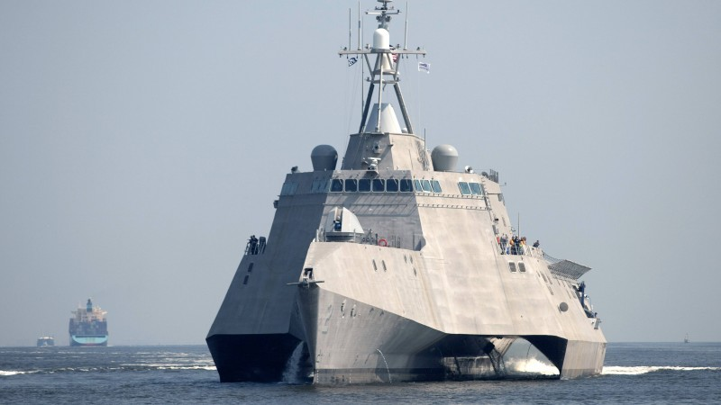 USS Independence, lead ship, LCS-2, Independence-class, littoral, combat ship, corvette, U.S. Navy (horizontal)