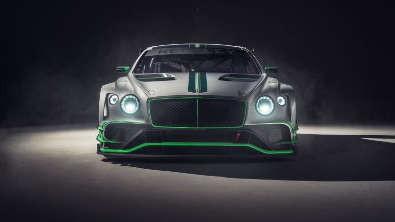 Bentley Continental GT3, 2018 Cars, 4k (horizontal)