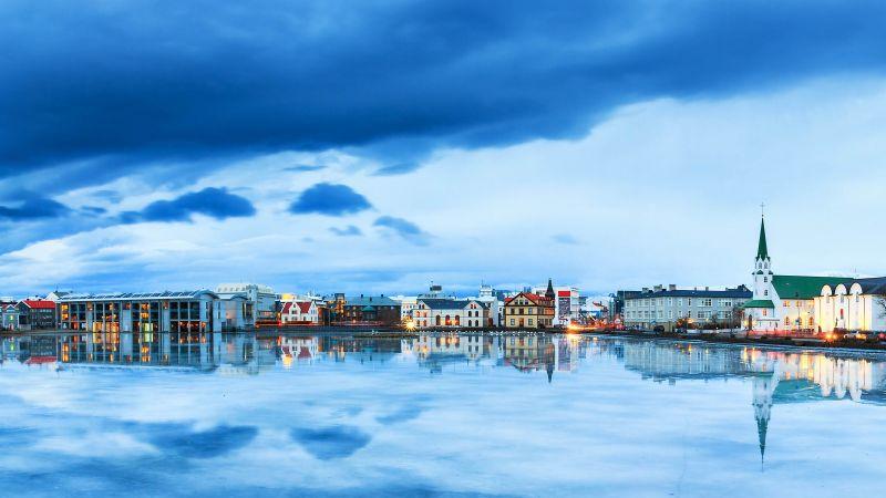 Wallpaper Reykjavik Iceland River Sky 4k Travel 16590