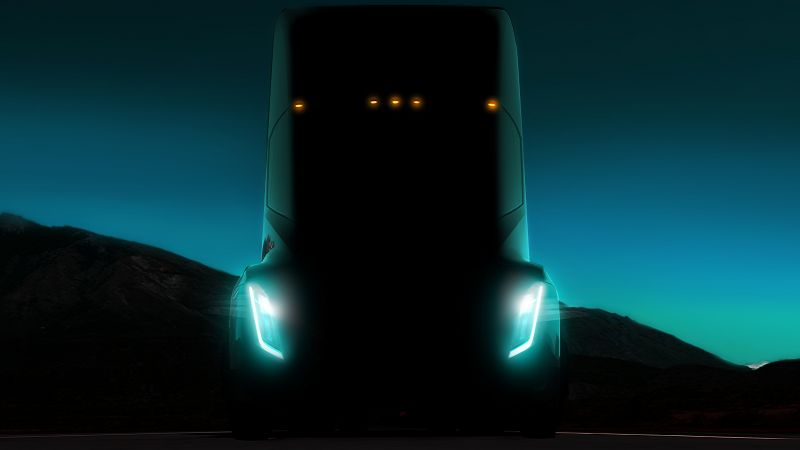 Tesla Semi Truck, electric car, 5k (horizontal)