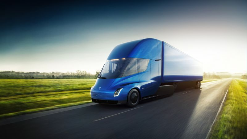 Tesla Semi Truck, electric car, 4k (horizontal)