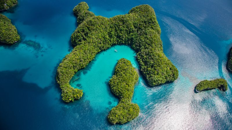 Palau, Philippines, ocean, islands, 8k (horizontal)