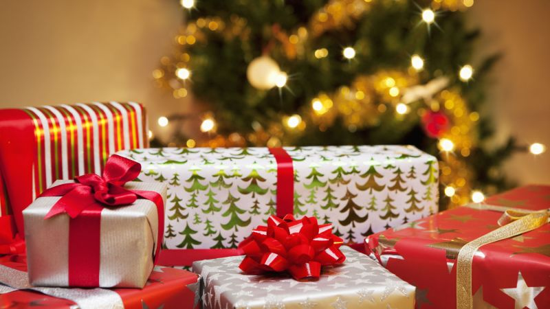 Christmas, New Year, gifts, 4k (horizontal)