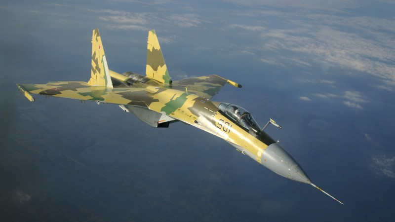 Su-35S, Sukhoi, Super Flanker, air superiority fighter, Russian Air Force, Russia (horizontal)