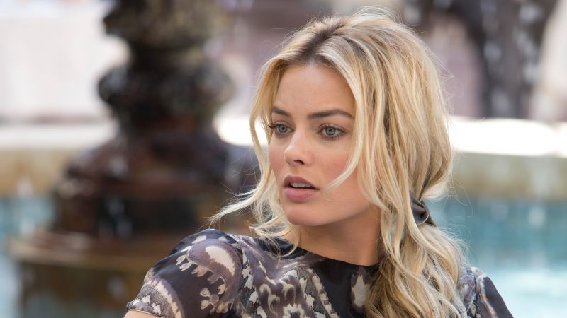 Margot Robbie, beauty, blonde, 4k (horizontal)
