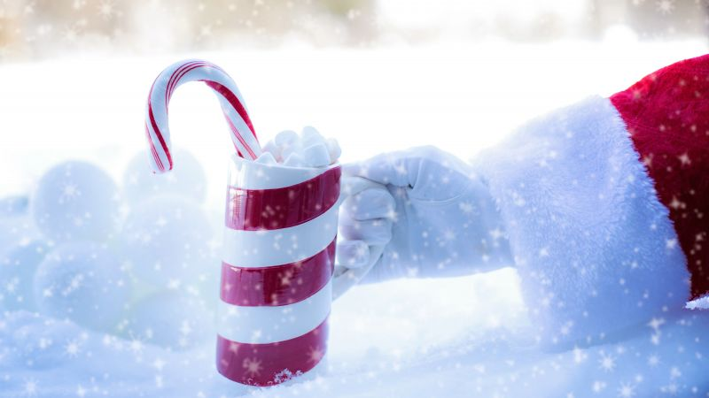 Christmas, New Year, Santa, snow, winter, candy, cup, 5k (horizontal)