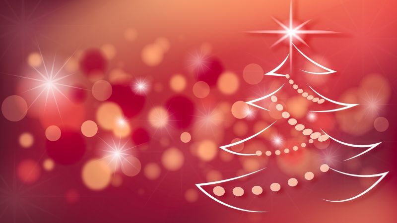 Christmas, New Year, fir-tree, , 4k (horizontal)