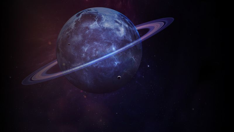 Saturn, planet, 4k (horizontal)