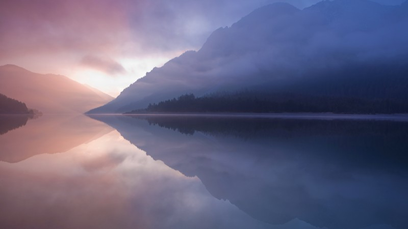5k, 4k wallpaper, forest, OSX, apple, lake, water, yosemite (horizontal)