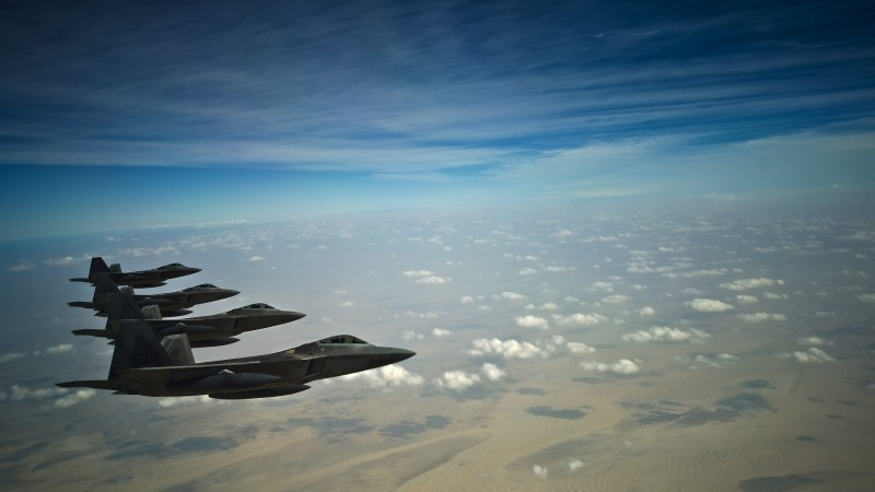 F-35, Lockheed, F-35A, Lightning II, jet, aircraft, military, airplane, sky, clouds, U.S. Air Force (horizontal)