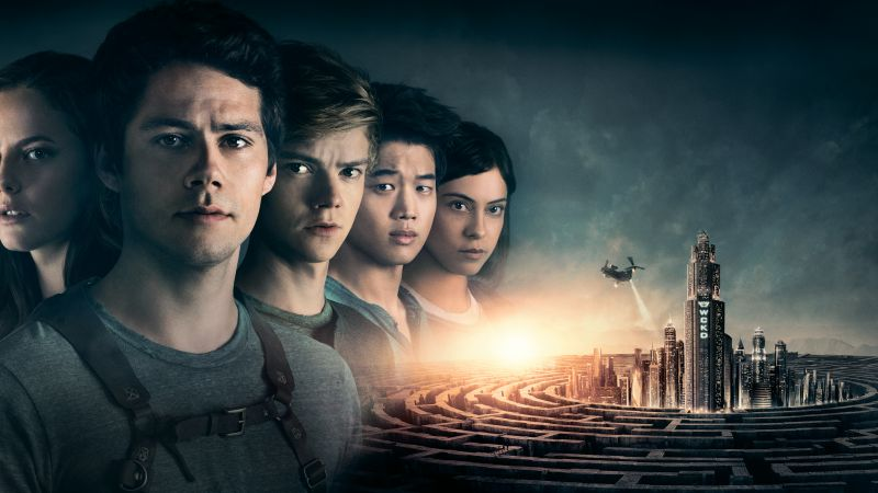 Maze Runner: The Death Cure, Dylan O'Brien, Thomas Brodie-Sangster, Kaya Scodelario, 5k (horizontal)
