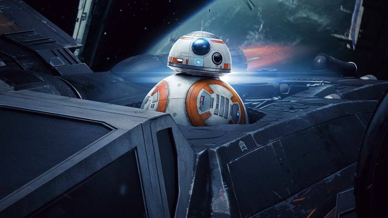 Star Wars: The Last Jedi, BB-8, 5k (horizontal)