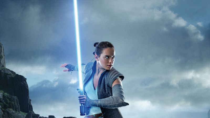 Star Wars: The Last Jedi, Daisy Ridley, 5k (horizontal)
