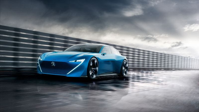 Peugeot Instinct, electric car, 4k (horizontal)