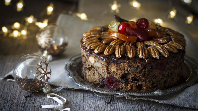 christmas cake, receipt, nuts, 5k (horizontal)