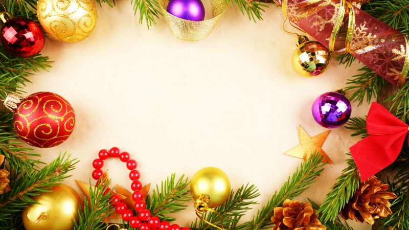 Christmas, New Year, decoration, 4k (horizontal)