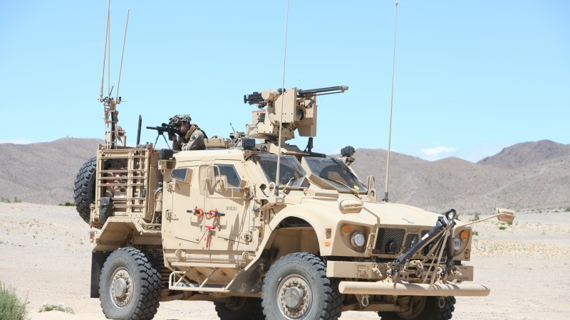 M-ATV, Oshkosh, MRAP, TerraMax, SXF, infantry mobility vehicle, desert (horizontal)
