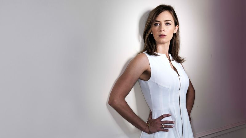 Emily Blunt, beauty, brunette, 5k (horizontal)