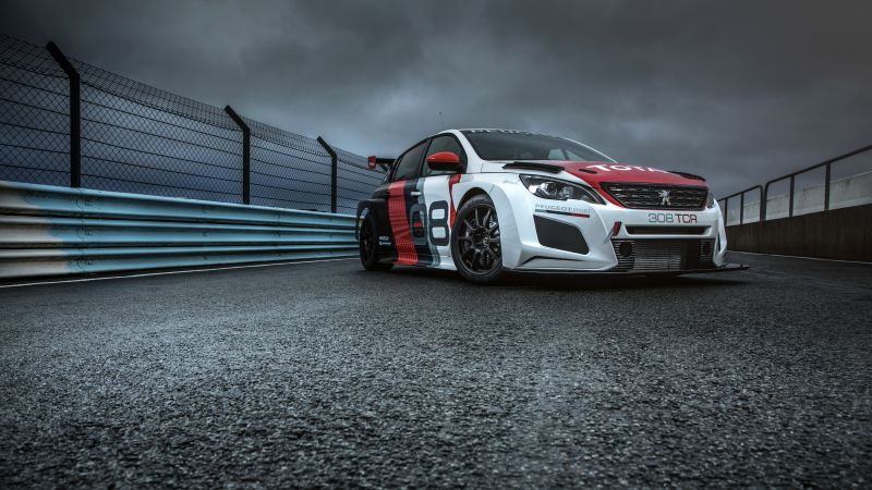 Peugeot 308 TCR, 2018 Cars, 4k (horizontal)