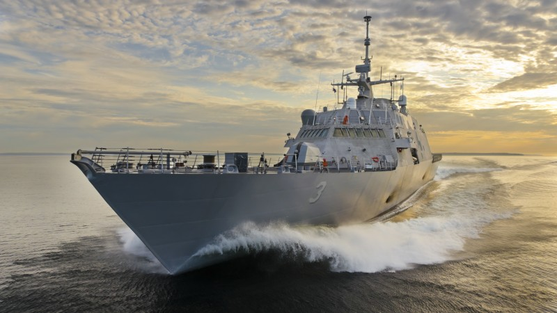 USS Fort Worth, LCS-3, littoral, Freedom-class, combat ship, U.S. Navy, USA Army, sea (horizontal)