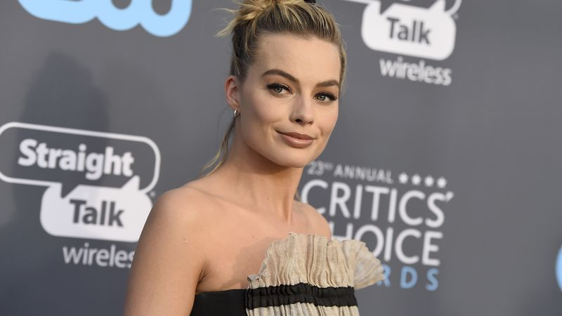 Margot Robbie, photo, Critics' Choice Awards 2018, blonde, 4k (horizontal)