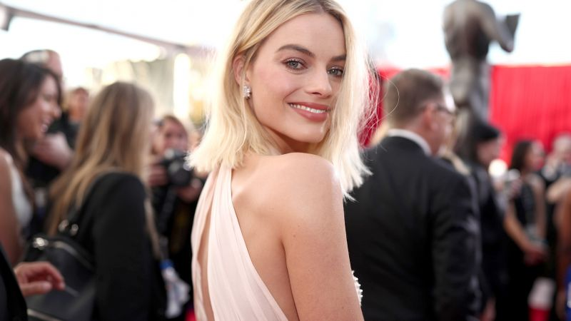 Margot Robbie, photo, Screen Actors Guild Awards 2018, blonde, 4k (horizontal)