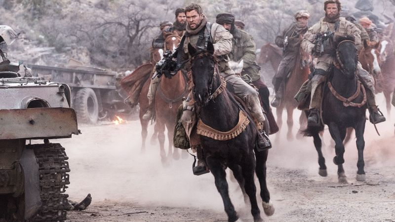 12 Strong, Chris Hemsworth, horse, 4k (horizontal)