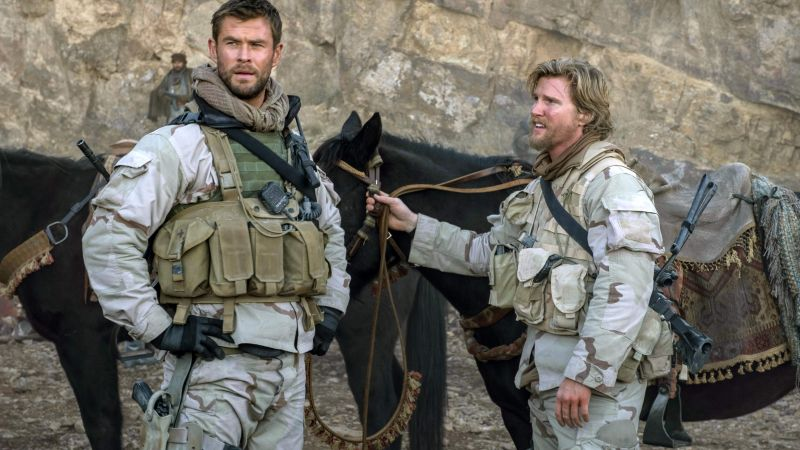 12 Strong, Chris Hemsworth, Thad Luckinbill, 4k (horizontal)