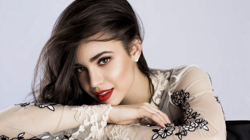 Sofia Carson, beauty, brunette, 5k (horizontal)