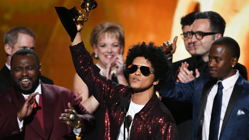 Bruno Mars, photo, Grammy 2018, 4k (horizontal)