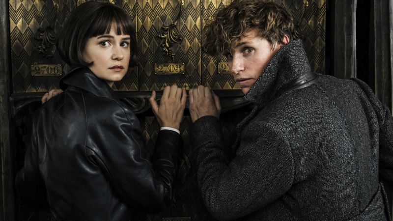 Fantastic Beasts: The Crimes of Grindelwald, Eddie Redmayne, Katherine Waterston, 5k (horizontal)