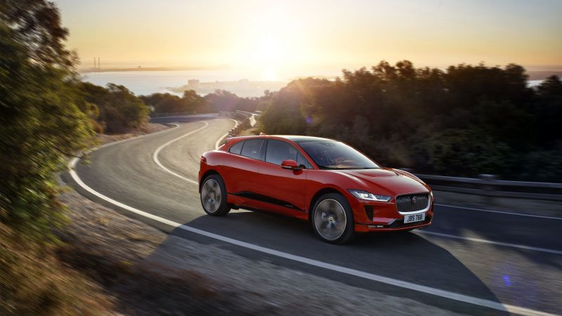 Jaguar I-Pace, electric car, 8k (horizontal)