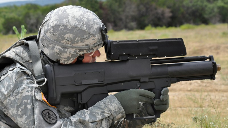 XM25, CDTE, Punisher, grenade launcher, modern weapon, Heckler & Koch, U.S. Army, soldier (horizontal)