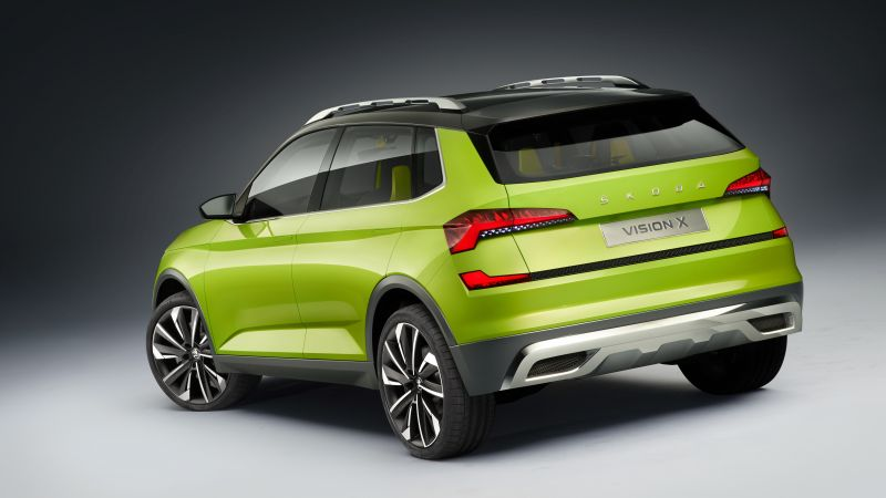 Skoda Vision X, electric car, 4k (horizontal)