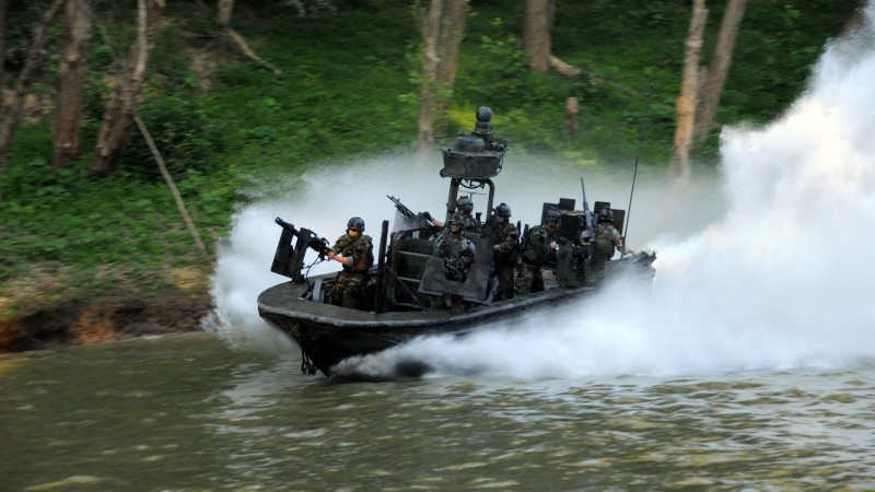 SBT-22, special forces, special boat team, Riverine, SOC-R, battle boat, river (horizontal)