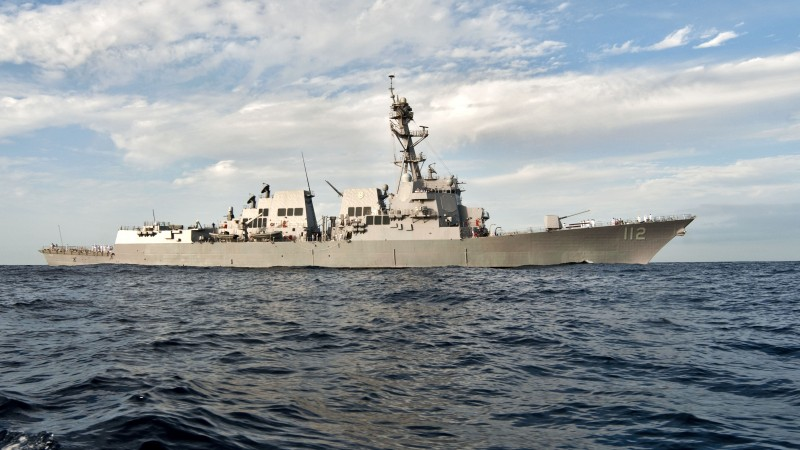 USS Arleigh Burke, DDG-51, lead ship, Arleigh Burke-class, destroyer, warship, U.S. Navy, sea (horizontal)