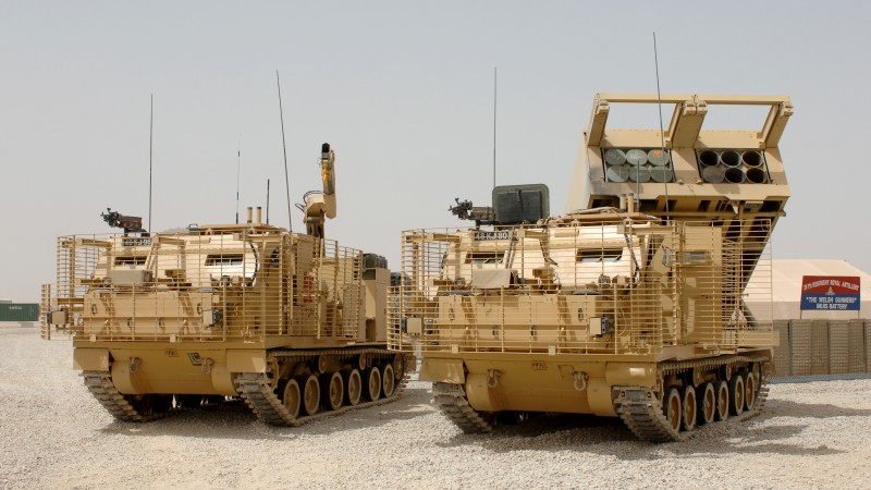 MLRS, M270, Multiple Launch Rocket System, missile, U.S. Army, Afghanistan, M270A1 (horizontal)