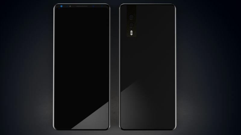HuaweiP20, black, 4k (horizontal)