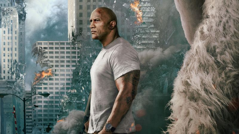 Rampage, Dwayne Johnson, 4k (horizontal)