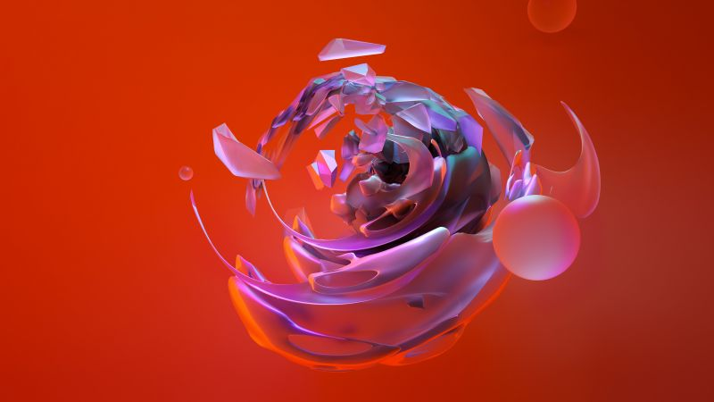 3D, sphere, abstract, shapes, 4k (horizontal)
