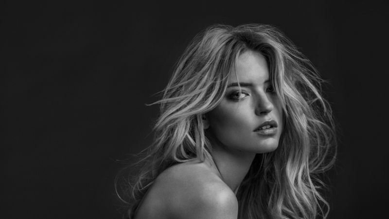 Martha Hunt, beauty, blonde, 4k (horizontal)