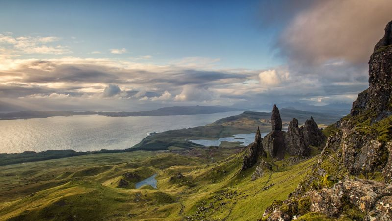 Isle of Skye, Scotland, Europe, nature, mountains, sky, 4k (horizontal)